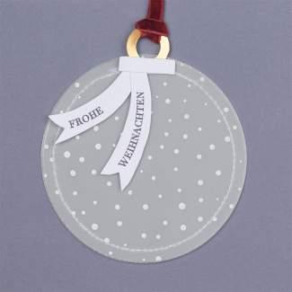 """Kugelkarte """"Frohe Weihnachten"""""""