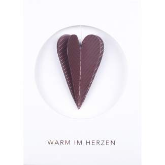 """Winterbotschaftskarte """"Warm im Herzen"""""""