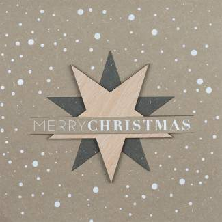"XL Steckkarte ""Merry Christmas"""