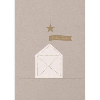 """Weihnachtsfaden Karte """"Haus"""""""