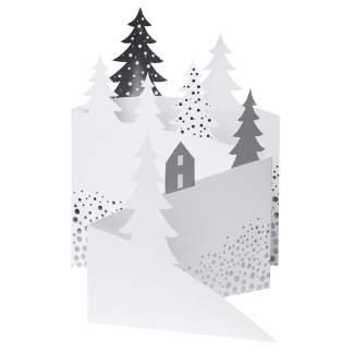 """Weihnachtsfaltkarte """"Winterlandschaft"""""""