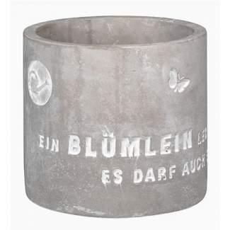 """Freiluft. Blumentopf """"Ein Blümlein lebt nicht von Glück..."""""""