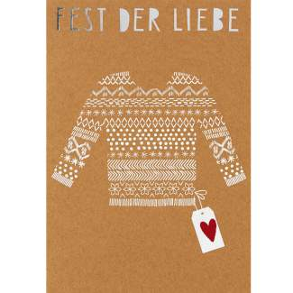"""Glanzstücke Karte """"Fest der Liebe"""""""