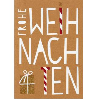 """Glanzstücke Karte """"Frohe Weihnachten"""""""