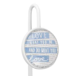 "Glas Lesezeichen ""Love what you do"""