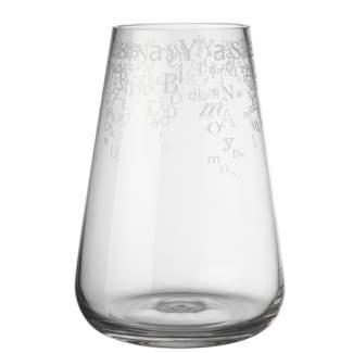 """Poesie Glas Vase """"Buchstaben, groß"""""""