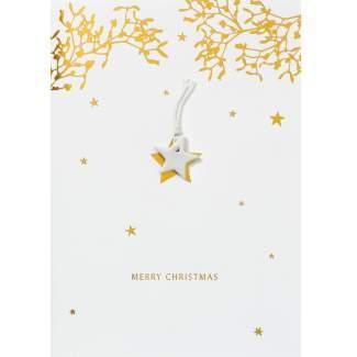 """Weihnachts Glücksbringer Karte """"Stern"""""""