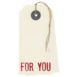 "Hangtag Karte ""For You"""