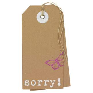 "Hangtag Karte ""Sorry"""