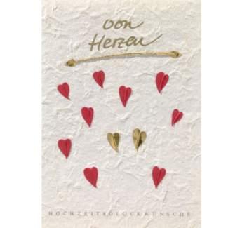 """Traumhochzeitskarte """"von Herzen"""""""