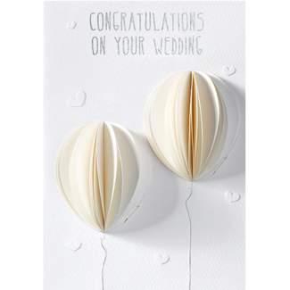 """Hochzeitskarte Honeycombkarte """"Luftballons"""""""