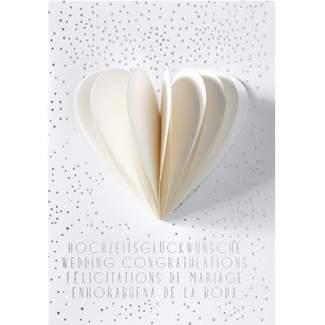 """Hochzeitskarte Honeycombkarte """"Herz"""""""