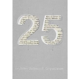 """Jubiläumskarte """"25"""""""