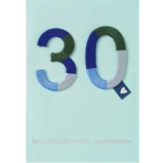 """Jubiläumskarte """"30"""""""