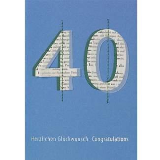 """Jubiläumskarte """"40"""""""