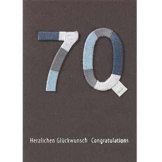 """Jubiläumskarte """"70"""""""