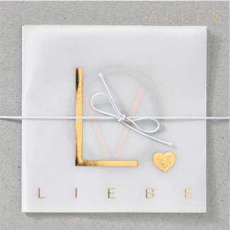 """Leporello Karte """"Liebe"""""""