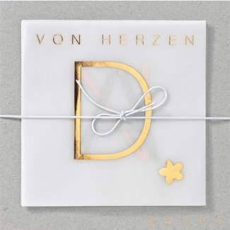 """Leporello Karte """"Von Herzen"""""""