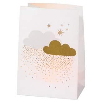 """Winterzucker Lichttütenkarte """"Wolken und Schneeflocken"""""""
