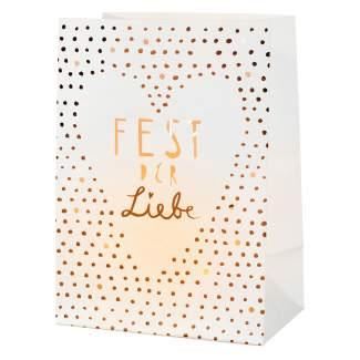 """Weihnachtslichttüten Karte """"Fest der Liebe"""""""