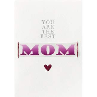 "Muttertagskarte ""You are the best mom"""