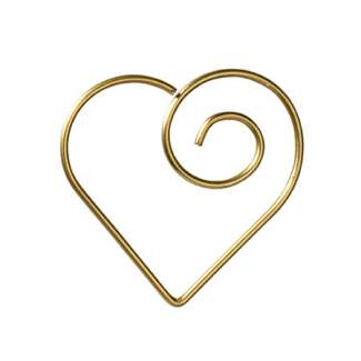 "Büroklammern Herz ""gold"""