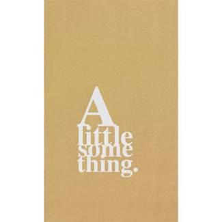 """Geschenktüten Set, A little something """"weiß auf Nanturpapier"""""""