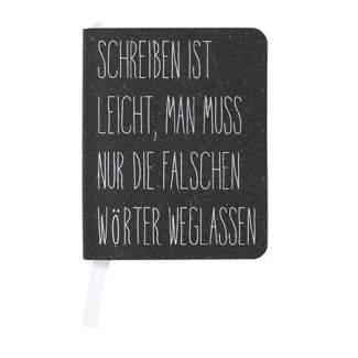 """Notizbuch A7, SCHREIBEN LEICHT """"schwarz"""""""