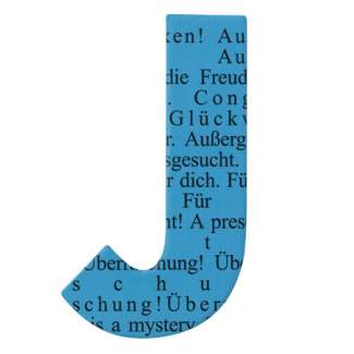 "Paper & Poetry. ABC Schachtel ""Buchstabe J"""