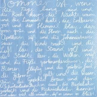 """Poesie et Table. Papierserviette. """"Sommer ist..."""""""