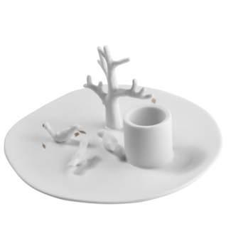 """Porzellangeschichten. Leuchter """"Baum und Vögel"""""""