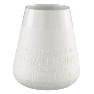 """Poesie Porzellan Vase """"Das Lächeln der Erde..."""""""