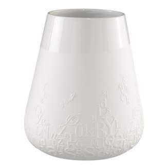 """Poesie Porzellan Vase """"Buchstaben"""""""