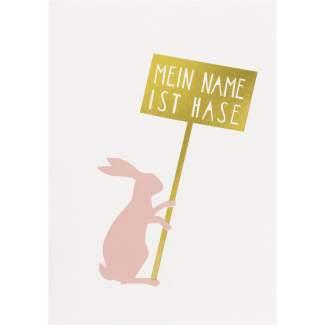 "Postkarten ""Mein Name ist Hase"""