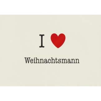 """Weihnachts Postkarte """"I love Weihnachtsmann"""""""