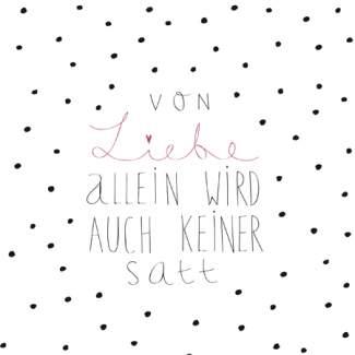 """Papierserviette """"Von Liebe allein"""""""