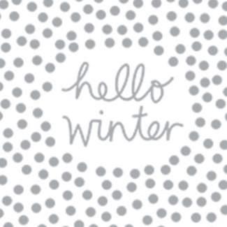 """Weihnachtsservietten """"Hello Winter"""""""