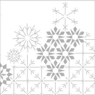 """Weihnachtsservietten """"Schneeflocken"""""""