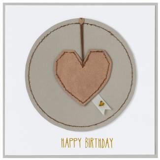 "Stickereikarte ""Happy Birthday"""