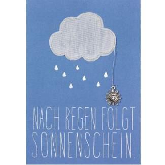 """Kleine Stickereikarte """"Wolke"""""""