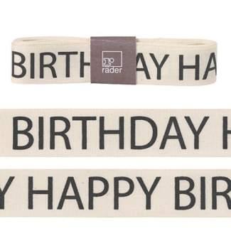 """Geschenk- Stoffband """"Happy Birthday"""""""
