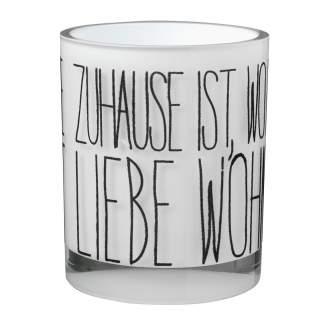 """Beflocktes Poesielicht """"Zuhause, schwarz"""""""
