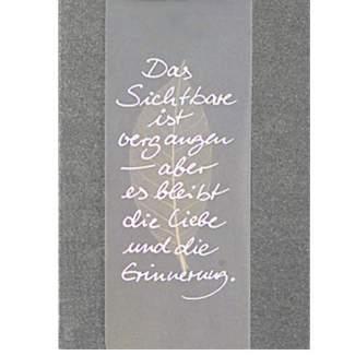 """Trauerkarte """"Das Sichtbare ist..."""""""