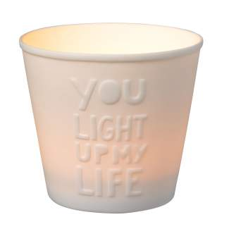 "Typografielicht ""You light up my life"""