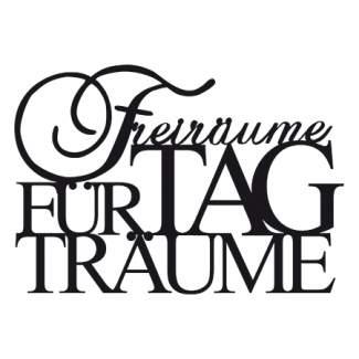 """Kleine Wandsticker """"Freiräume für Tagträume"""""""