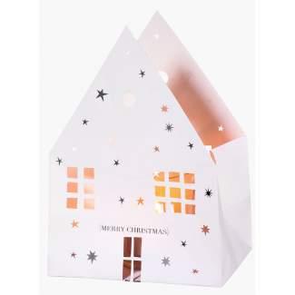 """Weihnachts Lichthaus Karte """"Merry Christmas"""""""