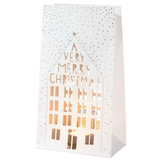 "Lichttüte im 2er Set ""Very mery christmas"""