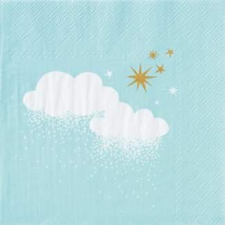 """Winterzucker. Servietten """"Wolken & Sterne"""""""