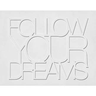 """Holz Wandpoesie """"Follow Your Dreams"""""""