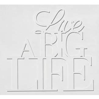 "Holz Wandpoesie ""Live a big life"""
